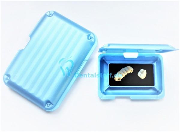 XPress Box blaumetallic mit Schaumstoffeinlage - verschiedene Varianten