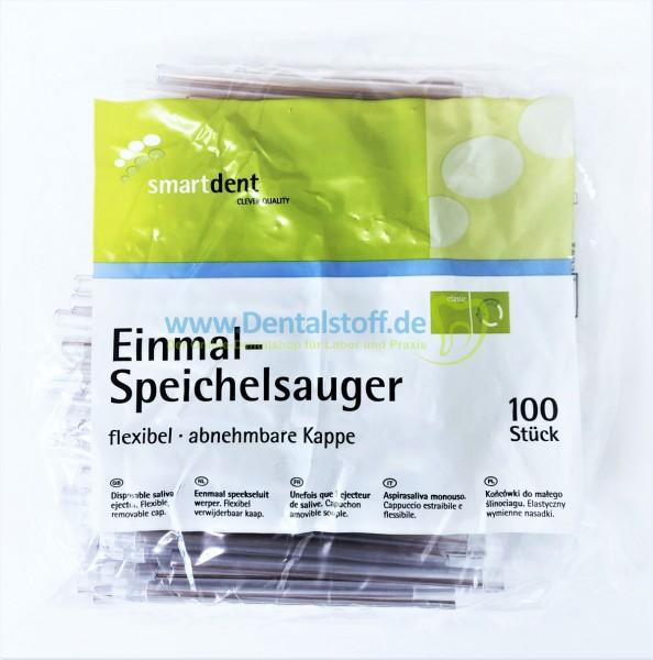 Smartdent Speichelsauger unsteril mit abnehmbarer Kappe - 100 Stück