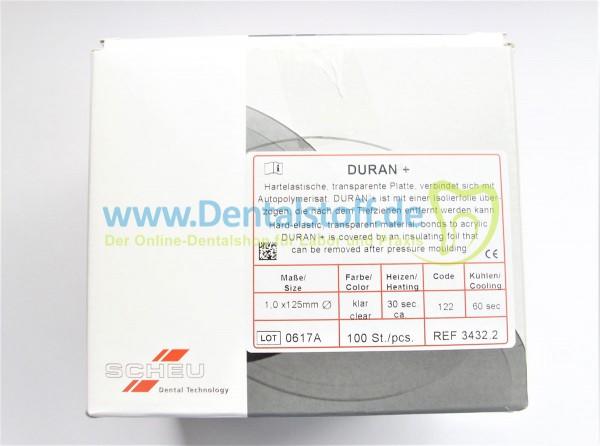 Duran+ Tiefziehfolien 125mm rund klar - verschiedene Varianten