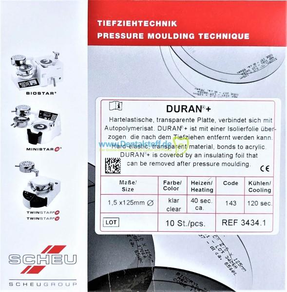 Duran+ Tiefziehfolien 125mm rund klar