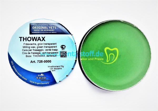 Thowax Fräswachs grün transparent / grau opak - 70g Dose