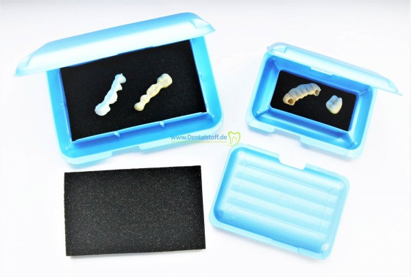 Klick Box mit Schaumstoffeinlage, blaumetallic