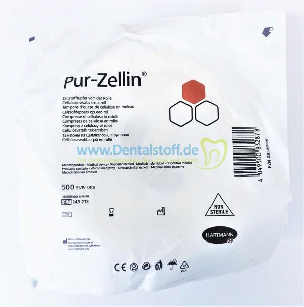 Pur Zellin 4 x 5cm Zellstofftupfer von der Rolle