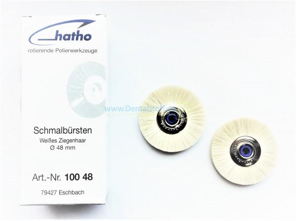Schmalbürsten Ziegenhaar weiß 48mm - 12 Stück