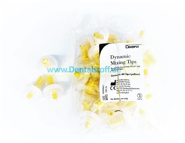 Aquasil Putty DECA Mischkanülen gelb - 40 Stück