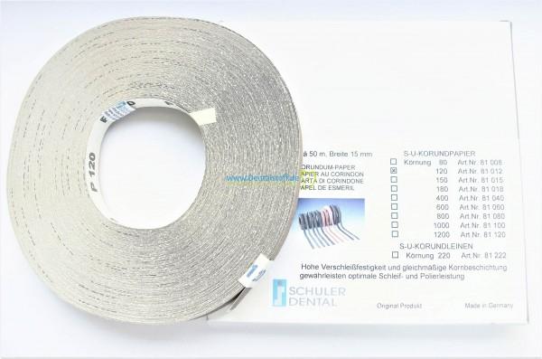 S-U Korundpapier 50m - verschiedene Varianten