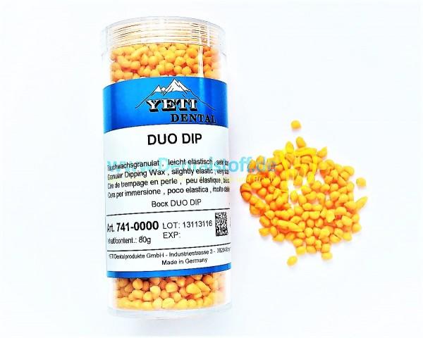 Duo Dip Tauchwachs Granulat, orange - 80g