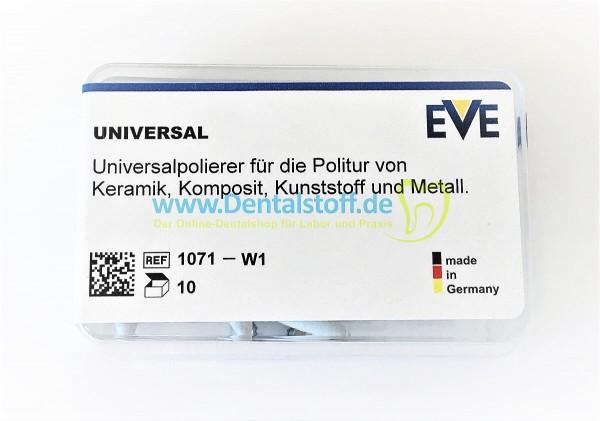 Eve Universalpolierer W1 - weiss, mittel, montiert - 10/100 Stück
