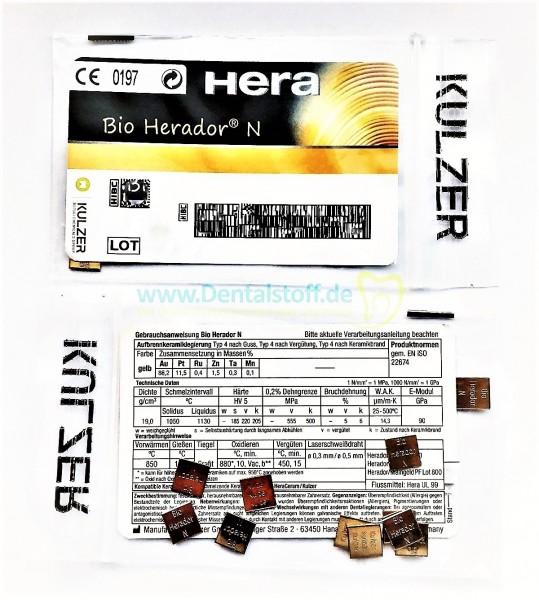 Bio Herador N - hochgoldhaltige Aufbrennkeramiklegierung 12570000