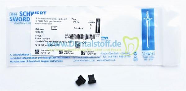 Kunststoffbacken für Kronenabnehmezange, gerieft 4940-101 - 1 Paar (2 Stück)