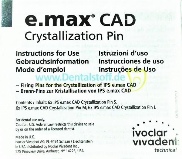 IPS e.max CAD Crystall Pins - Set 605368AN