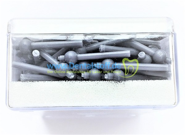 Wachsgussstifte mit verlorenem Kopf grau 6,5mm / 8mm - 200 Stück