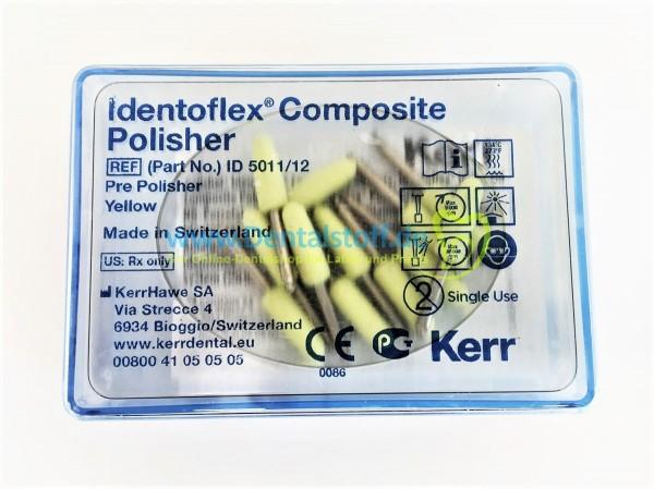 Identoflex Composite Polierer, gelb - Flamme groß ID5011/12 - 12 Stück