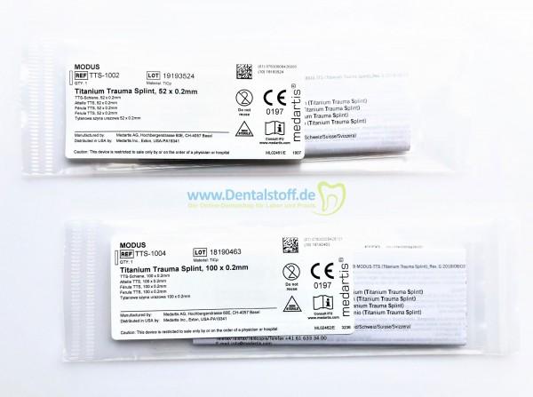 Titanium Trauma Splint TTS-1002 / TTS-1004