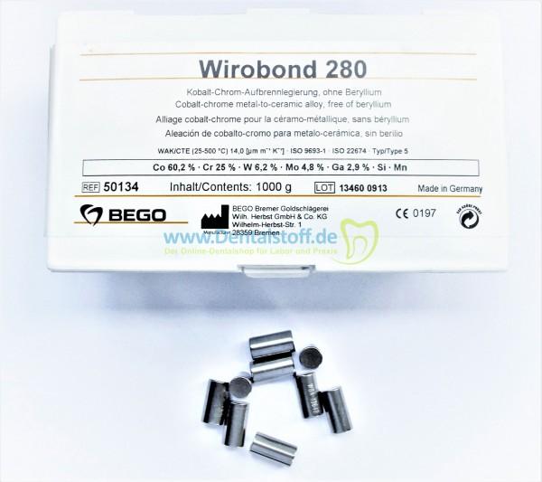Wirobond 280 Aufbrennlegierung - 250g 50135 / 1000g 50134