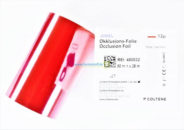 Roeko Hanel Occlusionsprüffolie ES einseitig 12my x 80mm - 25m Rolle