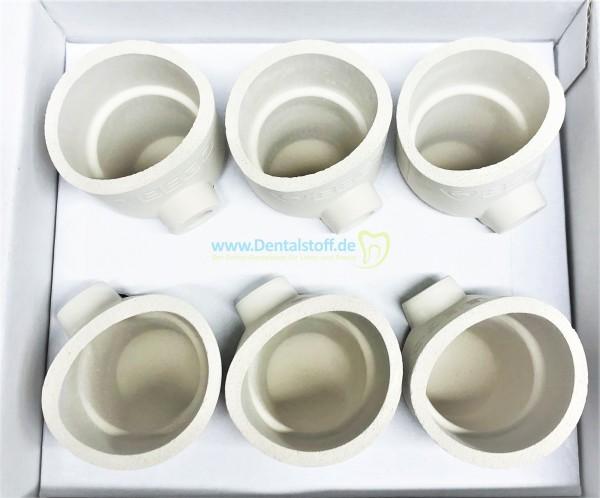 Fornax Keramik Schmelztiegel FC 52483 - 6 Stück