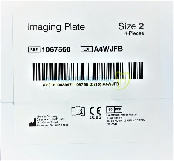 Kodak CS 7200 Speicherfolien - 4 Stück
