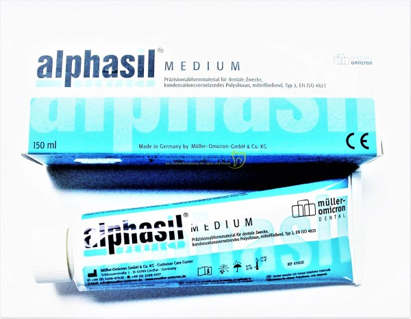 Alphasil Perfect medium Härterpaste blau - 150ml Tube