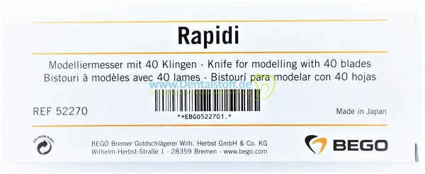Rapidi Modelliermesser