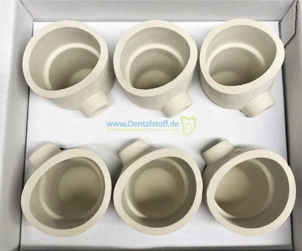 Fornax® Keramik Schmelztiegel FC 52483 - 6 Stück