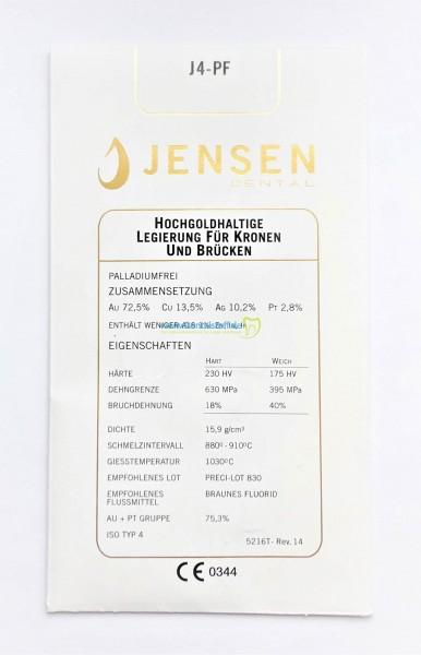 J4-PF - hochgoldhaltige Gusslegierung 5216F - 10g