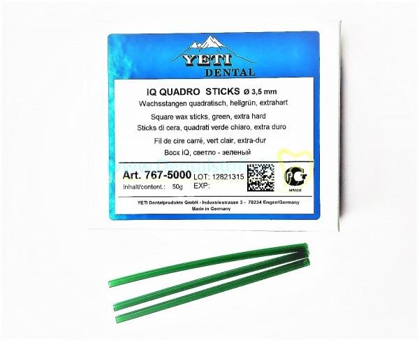 IQ Quadro Sticks - Gussbalken quadratisch, hart, hellgrün - 50g