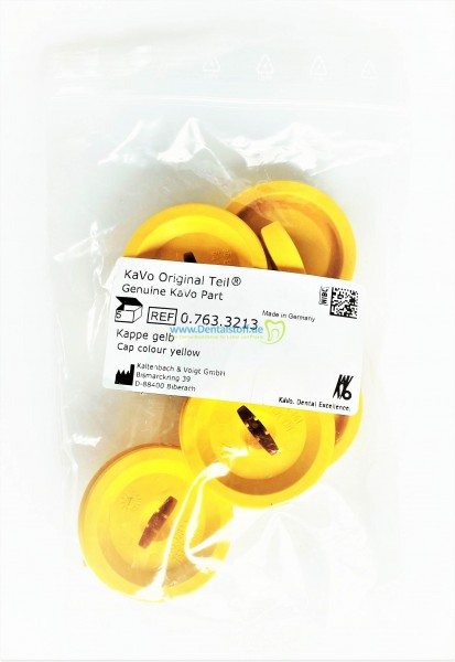 Kappe gelb für Filtersieb 0.763.3213 - 5 Stück