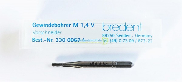 Gewindebohrer M 1,4 V Vorschneider 33000671