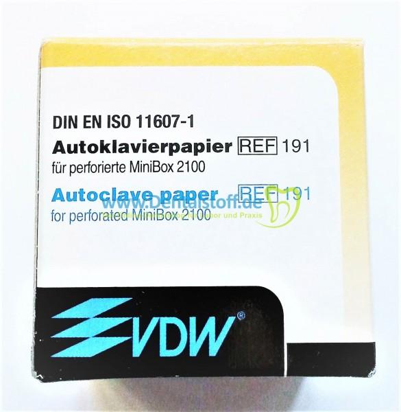 Mini Box 2100 Autoklavierpapier Nr.191 - 250 Stück