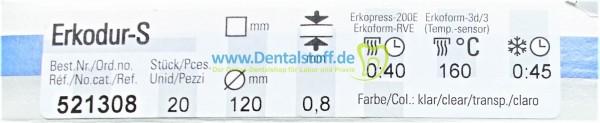 Erkodur S klar 0,8x120mm 521308 - 20 Stück